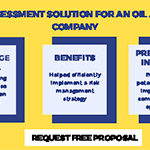 Risk assessment solution for an oil and gas company