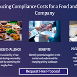 Reducing compliance costs for a food and beverage company.