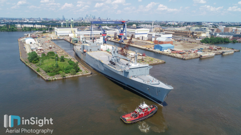 The SS Antares arrives at Philly Shipyard. (Photo: Business Wire)