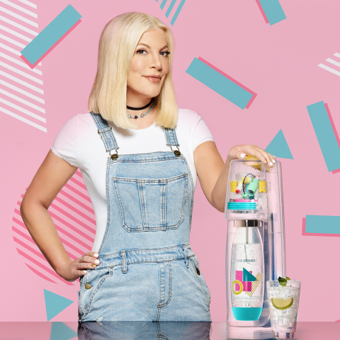 "SodaStream Launches New 90's Inspired ""Tori"" Machine in Partnership with Tori Spelling (Photo: Business Wire)"