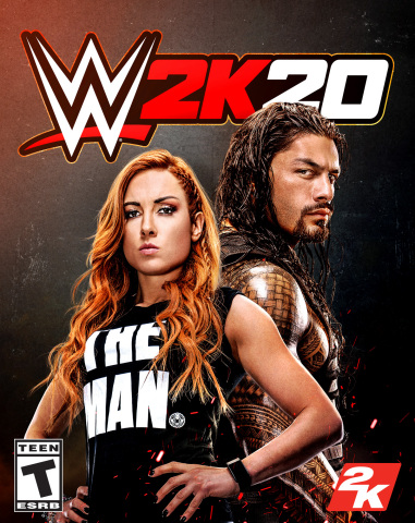 """2K today announced current Raw® Women's Champion Becky Lynch® and WWE Superstar Roman Reigns™ as the cover Superstars for WWE® 2K20, the forthcoming release in the flagship WWE video game franchise. Lynch and Reigns will serve as ambassadors for WWE 2K20's worldwide marketing campaign – """"Step Inside"""" – which invites players to enter the world of WWE and face a variety of new and exciting challenges in the virtual ring. WWE 2K20 is currently scheduled for worldwide release on Tuesday, October 22, 2019 for the PlayStation®4 computer entertainment system and the Xbox One family of devices, including the Xbox One X and Windows PC. (Photo: Business Wire)"""