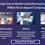 Reducing time to market and achieving savings of 16.6 million for an apparel company.