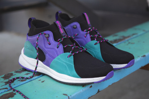 The Columbia SH/FT OutDry Mid is available in several high energy colorways. (Photo: Business Wire)