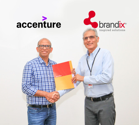 Manish Sharma, group operating officer for Accenture Operations, and Ashroff Omar, Brandix's group chief executive officer