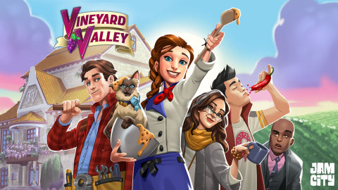 Jam City's new mobile game Vineyard Valley (Graphic: Business Wire)