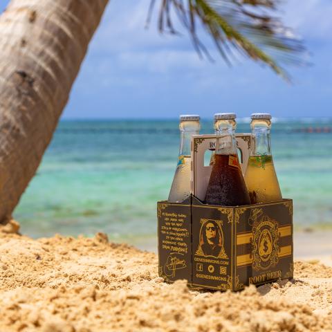 Gene Simmons MoneyBag Sodas at Hammock Cove Resort & Spa, Antigua (Photo: Business Wire)