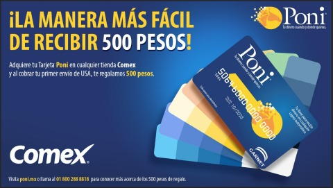 Comex breaks into the remittance market offering the Poni Cash Card, the key to cashing out remittances at any ATM in Mexico (Photo: Business Wire)