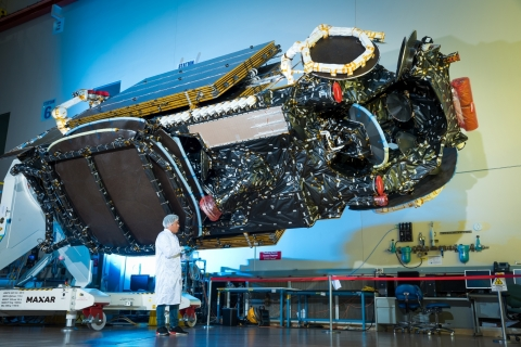 The Maxar-built Intelsat 39 communications satellite is performing according to plan after its launch. Image: Maxar