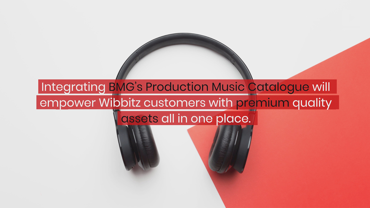 Wibbitz partners with BMG Production Music to integrate its vast soundtrack catalog.