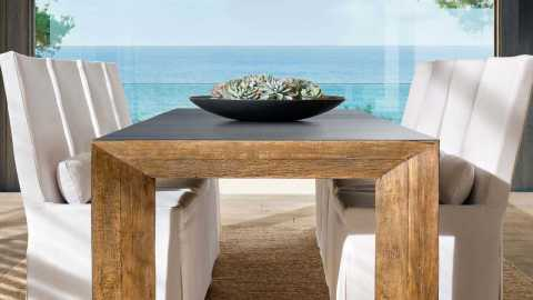 RH Beach House 2019 Bolinas Metal & Peroba Collection by Luay Al-Rawi (Photo: Business Wire)
