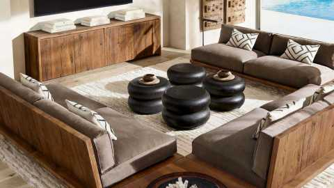 RH Beach House 2019 Oak Brule Sled Collection by Luay Al-Rawi (Photo: Business Wire)