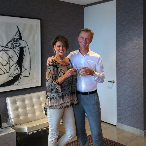 Sustainability + Capability = Invincibility! Joy Nunn of PurFi and Carl Baekelandt of Concordia toast the signing of their JV agreement. (Photo: Business Wire)