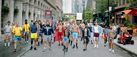 "Hanes is making the world a more comfortable place for every body. The brand's new ""Every Bod"" campaign featuring men of all types – from gym-sculpted to sofa surfers – all happy in their Hanes Comfort FlexFit boxer briefs in a range of new colors. (Photo: Business Wire)"