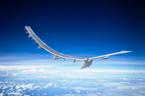 """HAPSMobile's """"HAWK30"""" is a solar-powered unmanned aircraft designed for stratospheric telecommunications platform systems. (Photo: Business Wire)"""