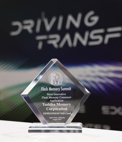 FMS recognized Toshiba Memory for leading mobile and embedded consumer storage forward with a new industry form factor for PCIe/NVMe devices. (Photo: Business Wire)