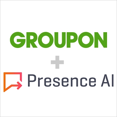 Groupon has acquired Presence AI, an AI-powered text and voice communications tool that enables and facilitates messaging between customers and merchants. (Graphic: Business Wire)