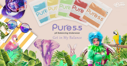 aPure Pure5.5 pH Balancing Underwaer, one of the most common items that is essential to bring and makes the weekend run smoothly, designed with multiple & amazing functions wholly fulfill your travel underwear requirements. (Photo: Business Wire)