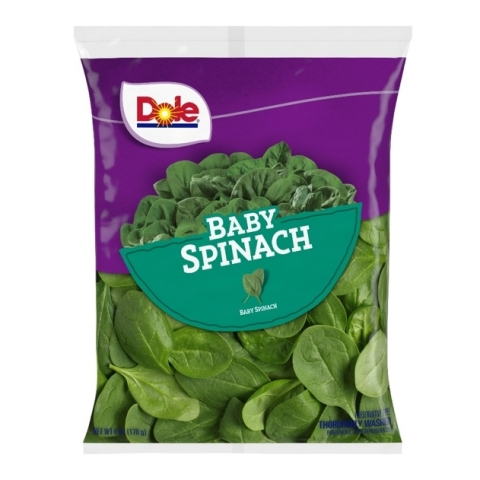 6 oz Dole Baby Spinach bag (Photo: Business Wire)