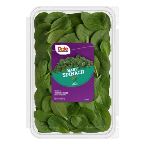 10 oz Dole Baby Spinach clamshell (Photo: Business Wire)