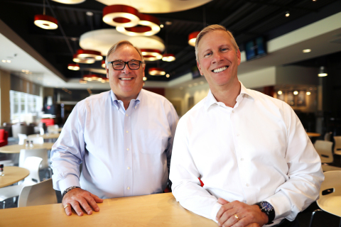 Yum! Brands today announced that CEO Greg Creed (left) will retire at the end of 2019 and will be succeeded by President and Chief Operating Officer David Gibbs (right), effective January 1, 2020. (Photo: Business Wire)