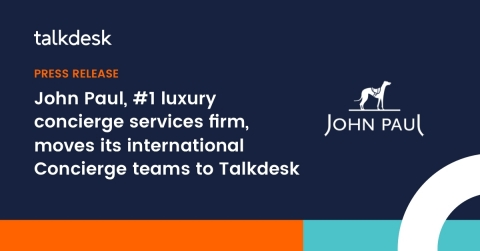 Talkdesk Enterprise Cloud Contact Center will enable John Paul's almost 700 agents worldwide to provide an exceptional customer experience to its clients and members. (Graphic: Business Wire)