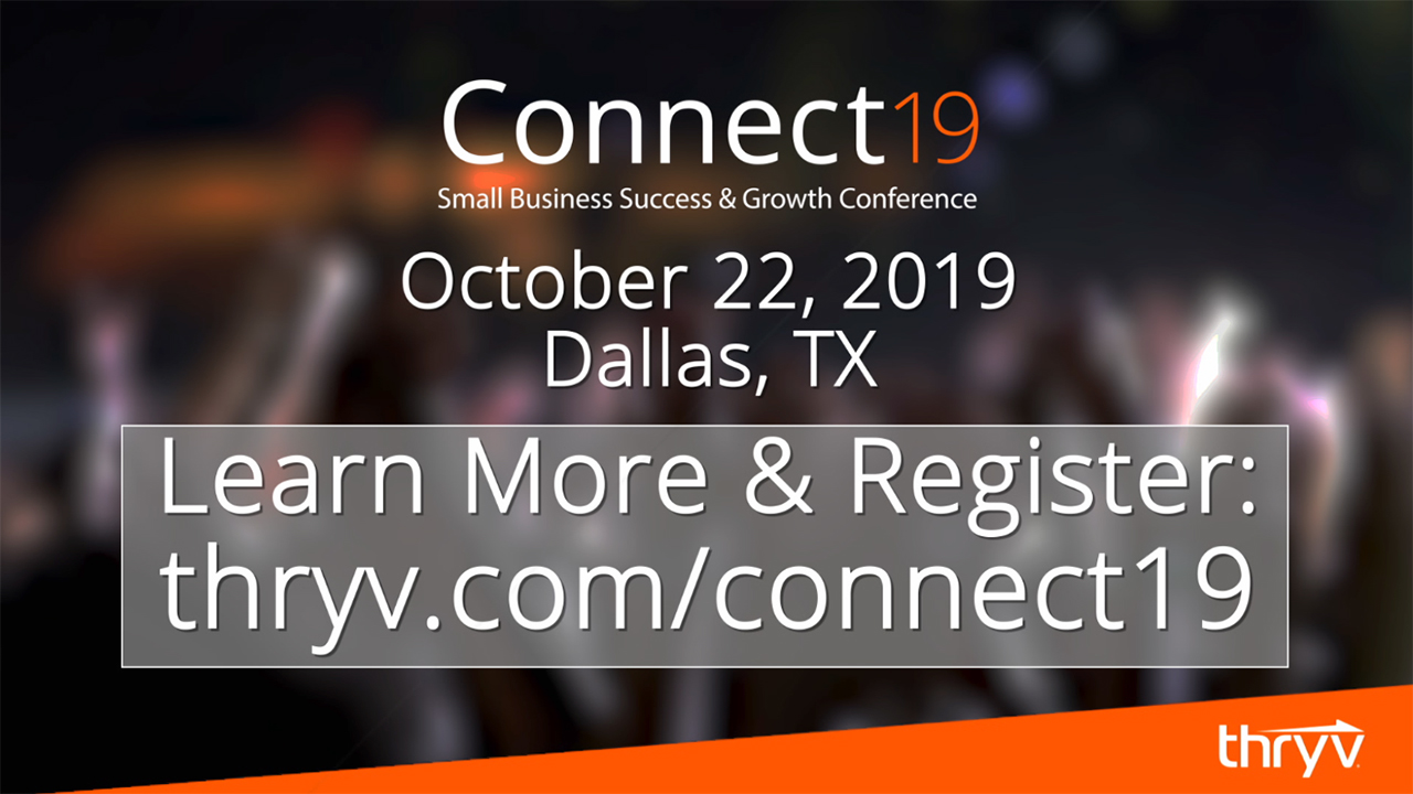 Thryv® announces Connect19 conference and invites small business owners to learn how to build and grow their companies — and avoid the killer mistakes others make.