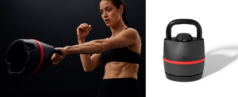 The Bowflex® SelectTech® 840 adjustable kettlebell delivers the power of six weights in one.