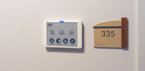 Landmark Hospitals of Florida Launches Electronic Paper Patient and Room Information Displays (Photo: Business Wire)