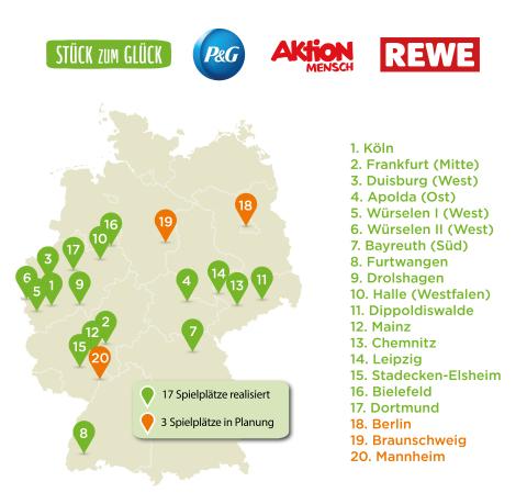"""Im Rahmen der Spendeninitiative """"Stück zum Glück"""" wurden schon 17 inklusive Spielplatzprojekte deutschlandweit umgesetzt (Photo: Business Wire)"""