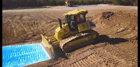 Komatsu recently introduced its Proactive Dozing Control logic, a fully-integrated dozing control system that allows operators to perform auto-stripping, auto-spreading and high production dozing, as well as finish grading. (Photo: Business Wire)