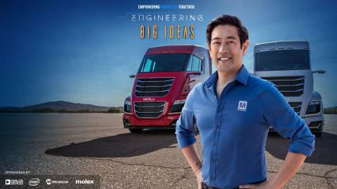 Global distributor Mouser Electronics and engineer spokesperson Grant Imahara join forces for the fifth consecutive year to launch Engineering Big Ideas, the latest series in Mouser's Empowering Innovation Together program. The four-part series will explore the process of turning an idea into a product and examine the path to commercialization - from discovery to design and eventually development. To learn more, visit www.mouser.com/empowering-innovation/Engineering-Big-Ideas. (Photo: Business Wire)