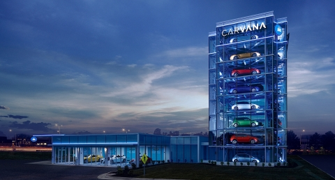 Carvana Launches the First Car Vending Machine in California, Making Car Buying Fun Again for Southern California Area Residents. (Photo: Business Wire)