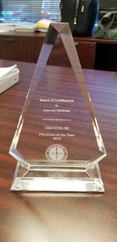 eQHealth Solutions' Dr. Chris C.W. Kunis Receives Physician of the Year Award from the American Association of Physician Specialists (Photo: Business Wire)