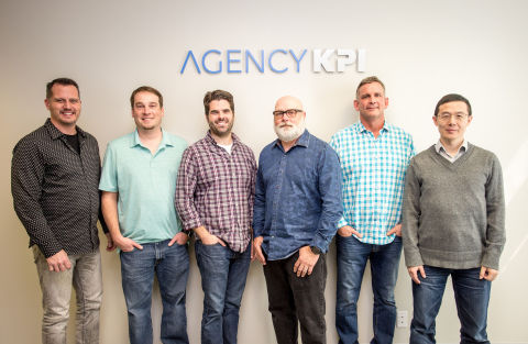 The AgencyKPI team assembled in Austin. (Photo: Business Wire)