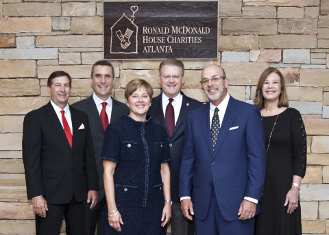 Pictured from left: David Chandley, Event Emcee; Gilles Leclerc, The Coca-Cola Company, Honorary Event Chair; Helen Carlos, Event Honoree; Rich DeAugustinis, The Coca-Cola Company; Jimmy Carlos, Event Honoree; and Beth Howell, Atlanta RMHC President & CEO. (Photo: Business Wire)