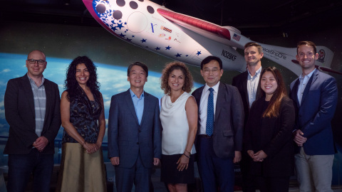 Shay Hershkovitz, XPRIZE head of research, Zenia Tata, XPRIZE chief impact officer, Dr. Cheol-Soo Ahn, founder of The Circle Foundation, Anousheh Ansari, CEO of XPRIZE, Dr. Sung-Ho, Choi, chairman of The Circle Foundation, James Burbridge, XPRIZE lead analyst, Jessica Yoon, XPRIZE assistant project manager, Terry Mulligan, XPRIZE product manager (Photo: Business Wire)