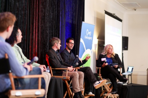 """Writers and producers of NBC's new medical drama series """"New Amsterdam"""" recently shared a panel at OneLegacy's Donate Life Hollywood event, which focused on bringing television viewers authentic and accurate storylines concerning the power of organ, tissue and eye donation. (Photo: Business Wire)"""