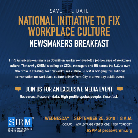 Save-The-Date for Exclusive Media Event on Workplace Culture (Graphic: Business Wire)