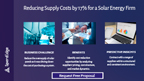 Reducing Supply Costs by 17% for a Solar Energy Firm.