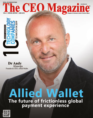 Andy Khawaja of Allied Wallet on the cover of The CEO Magazine (Photo: Business Wire)