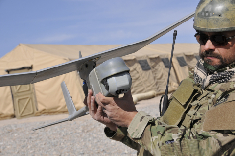 AeroVironment RQ-11B Raven Small Unmanned Aircraft System designed for land-based operations (Photo: AeroVironment)