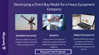 Developing a Direct Buy Model for a Heavy Equipment Company. (Graphic: Business Wire)