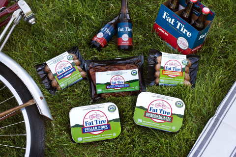 The NEW Niman Ranch Fat Tire BBQ Collection is now available at specialty grocers across the country, just in time for Labor Day weekend grilling. (Photo: Business Wire)