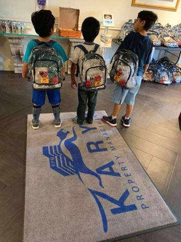 #allsmilesnoguns is a non-violence in schools initiative by Karya Kares Foundation. In 2019, they gave away 8,000 clear backpacks across the nation to school children. (Photo: Business Wire)