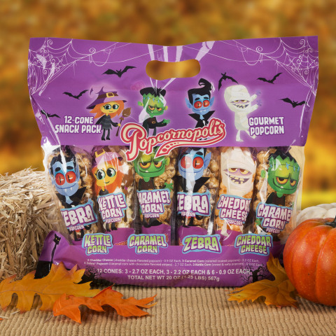 Popcornopolis Halloween themed Mini Cone Snack Pack (Photo: Business Wire)