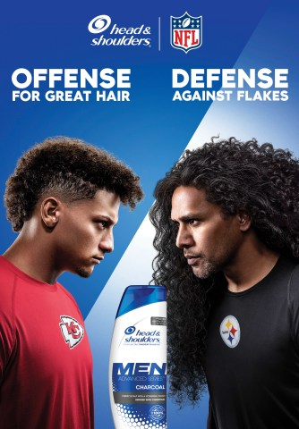 Head & Shoulders Enlists Patrick Mahomes and Troy Polamalu to Settle the Age-Old Debate - Offense or Defense? (Graphic: Business Wire)