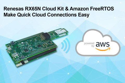Renesas RX65N Cloud Kit & Amazon FreeRTOS Make Quick Cloud Connections Easy (Graphic: Business Wire)