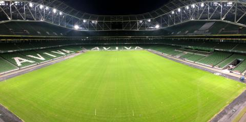 Aviva Stadium recently installed Musco's LED system. (Photo: Business Wire)