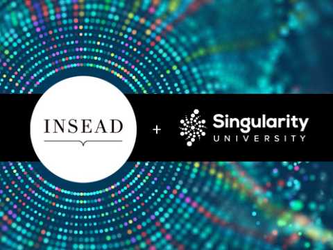 Singularity University and INSEAD partnership (Graphic: Business Wire)