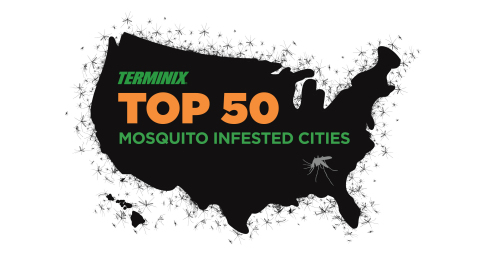 Terminix today reveals its Top 50 Mosquito Cities. (Photo: Business Wire)